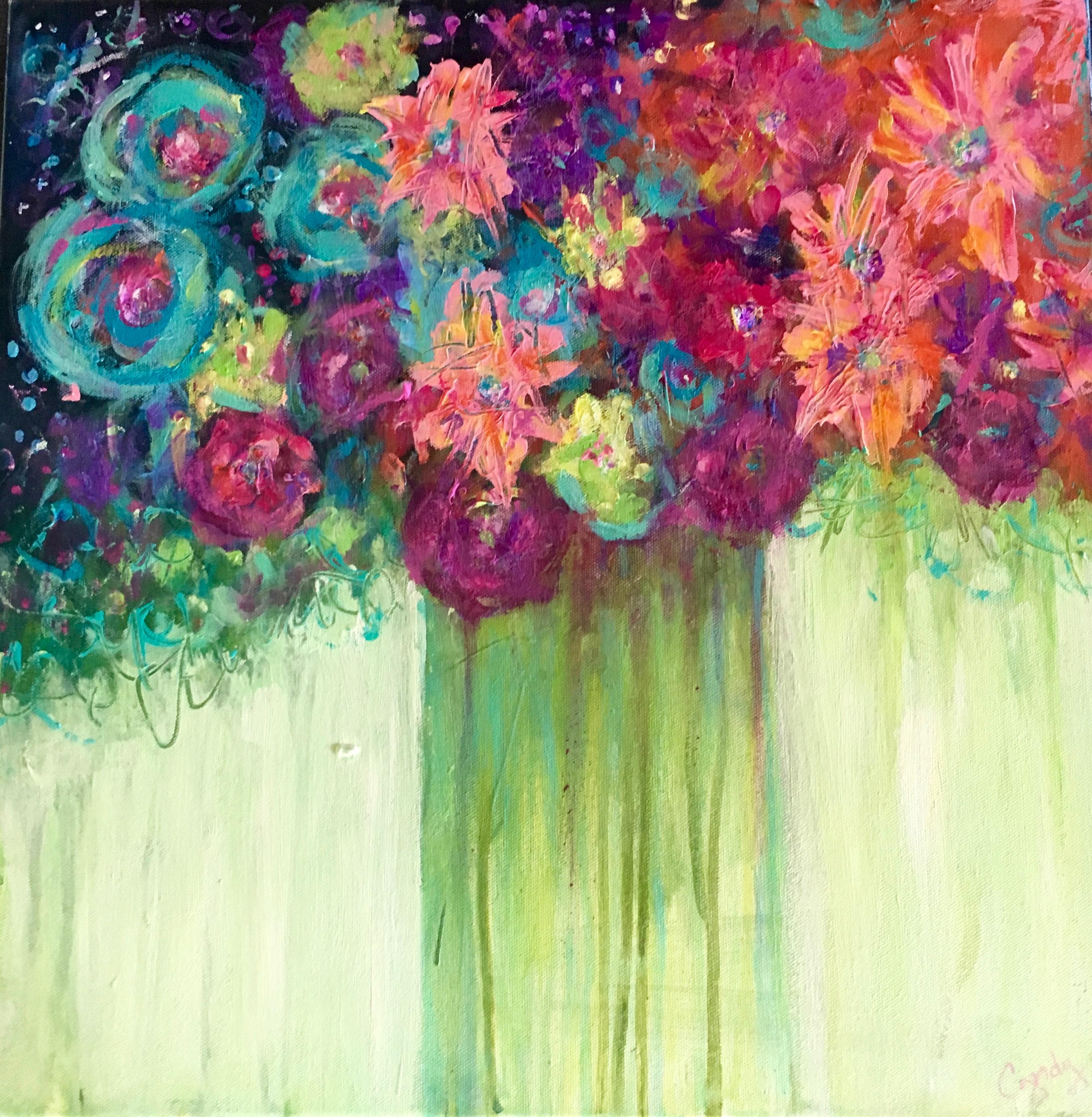 Floral Dreams 30 x 30  $425 Sold