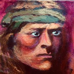 The Prophet 12 x 16 Acrylic $250
