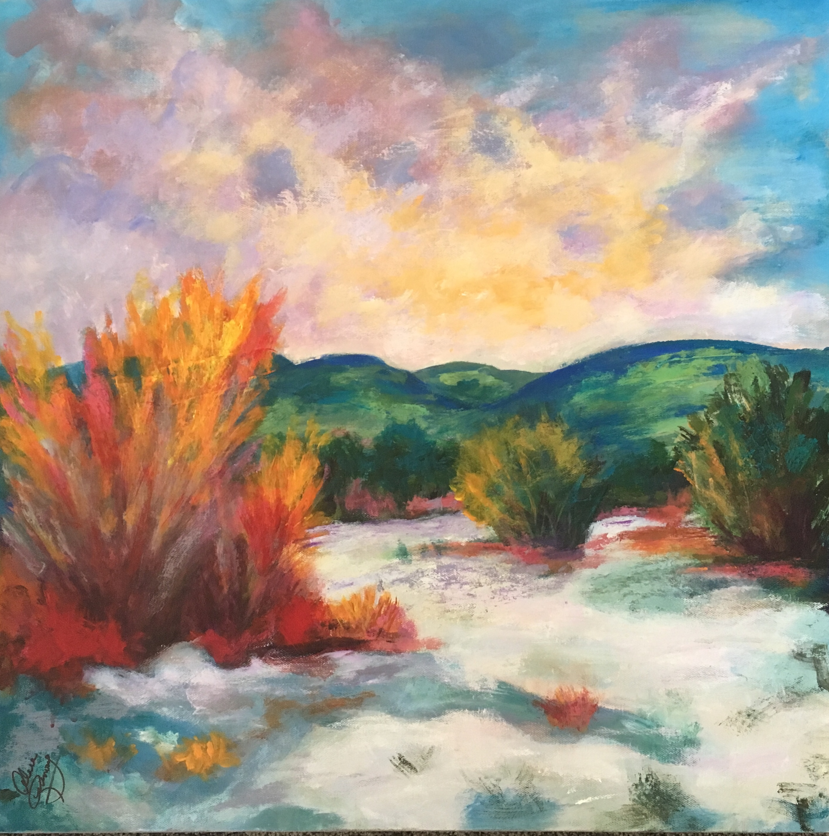 Spring in New Mexico 24 x 24 $425