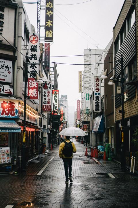 tokyo in the rain