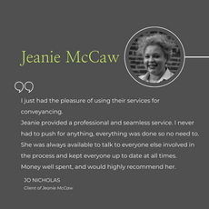 Jeanie McCaw - Conveyancing