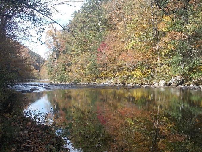 Autumn colours in the Smoky Mountains
