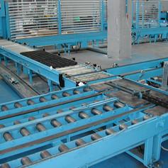 Impianto automatico movimentazione cestoni metallici
