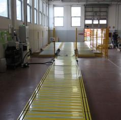 Impianto di stoccaggio pallets automatizzato con selezione