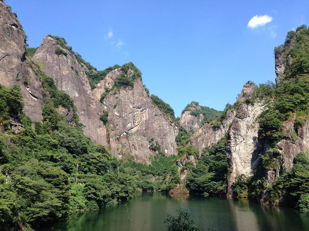 Beautiful mountains of Yame