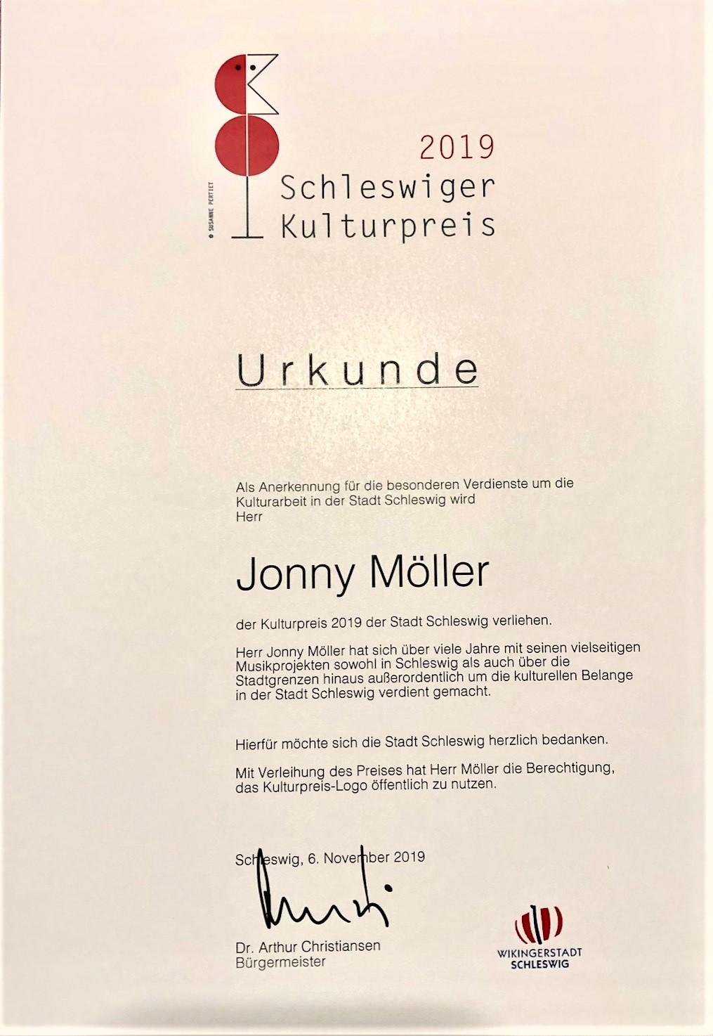 Kulturpreis Jonny Möller