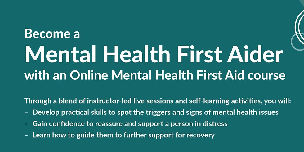 Mental Health First Aid (MHFA) Online May