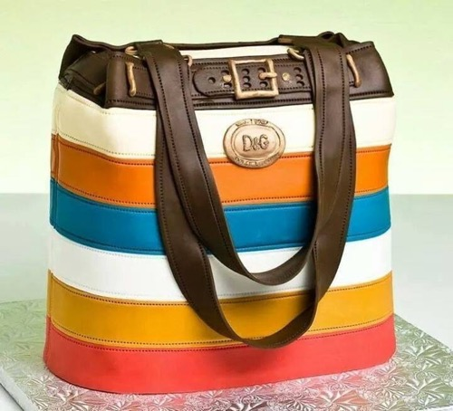 Striped-Handbag