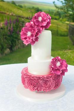 Ruffled-Rose-Cake