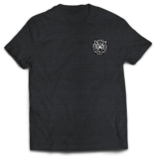 T-shirt Charcoal Gray with B/W logo