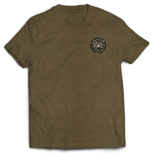 T-shirt Military Green with B/W logo