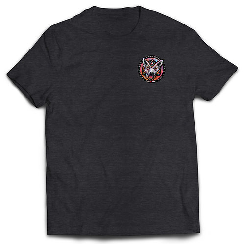 T-shirt Charcoal Gray with Color logo