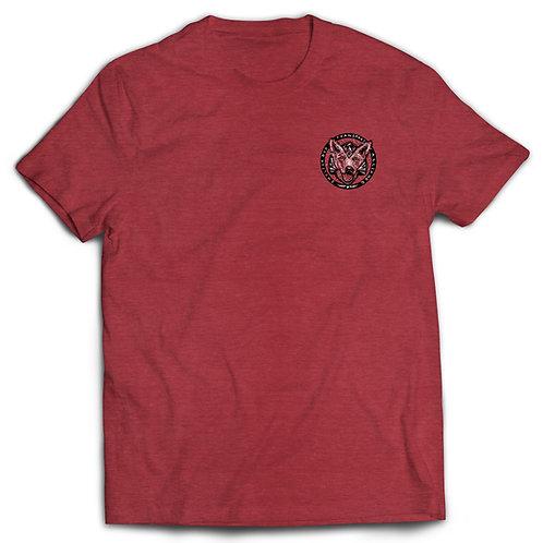 T-shirt Cardinal Red with B/W logo