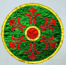 эскиз панно из мха с татарским колоритом