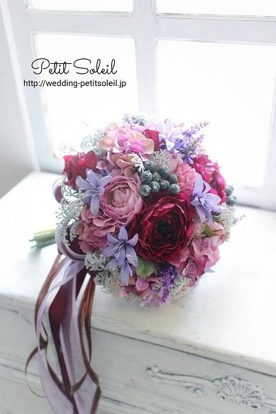 紫ブーケ(造花)