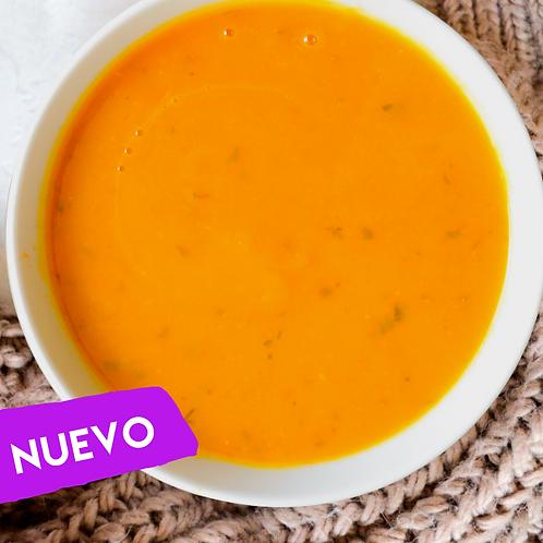 Sopa ahuyama y zanahoria
