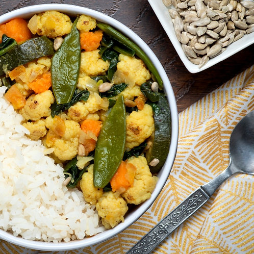 Curry verde de verduras