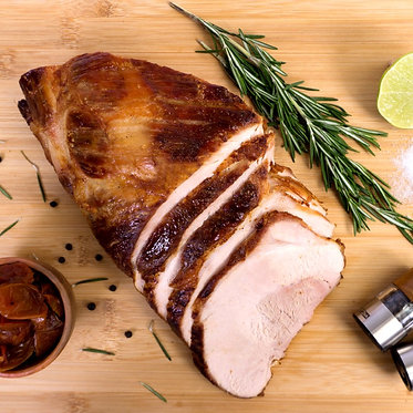 Pernil de cerdo en salsa BBQ de ciruela