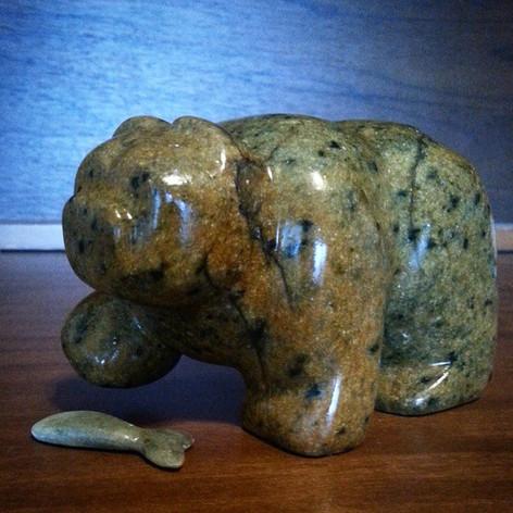 Kodiak bear  #soapstone #art #sculpture