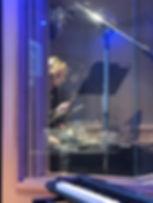 Robin Cisek recording in New York City