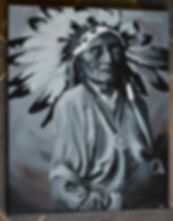 Painting of a Indigenous Chief by Robin Cisek