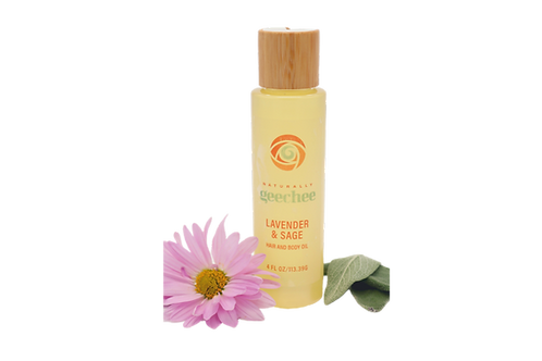 Hair & Body Oil - W/ Lavender & Sage