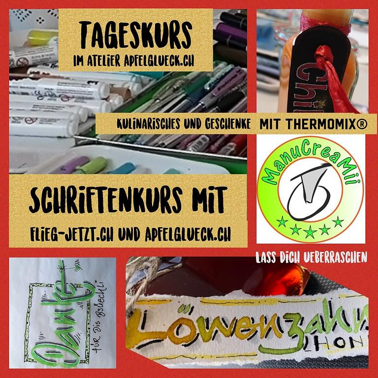 """TAGESKURS - Spezial """"SCHRIFTENkurs & Geschenke mit Thermomix®"""""""