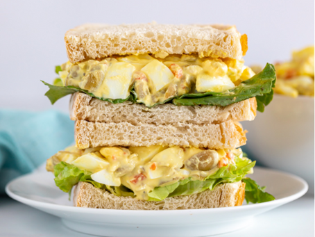 Egg Salad Sandwich with Olives