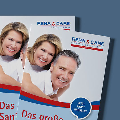 Branding Reha & Care Nürnberg, Designstudio Lohrer, Grafikdesign, Webdesign, Werbung, Werbeagentur, Nürnberg, Fürth, Corporate Design, Branding, Markenentwicklung, Markenstrategie, Logodesign, Verpackungsdesign, Geschäftsausstattung, Flyer, Plakate, Anzeigen, Design für Print und digitale Medien