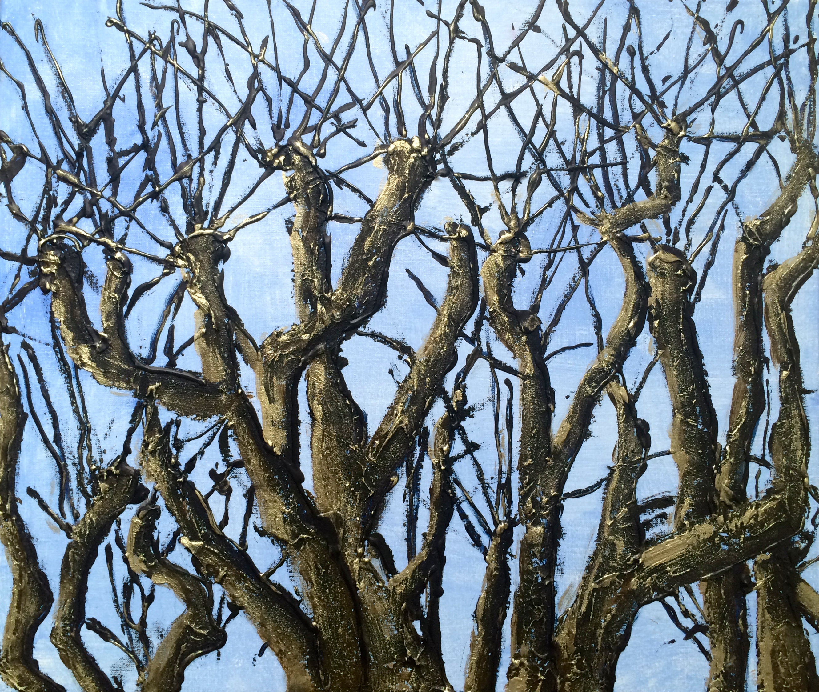 Knotted trees 70 x 60 SOLD