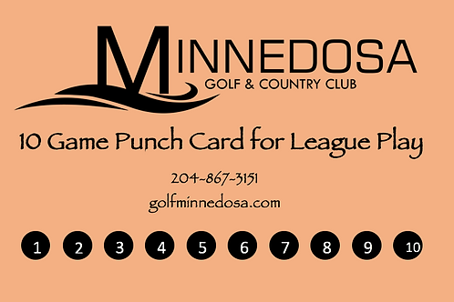 10 Game Punch Card - League
