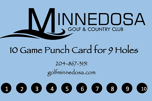 10 Game Punch Card -9 Holes