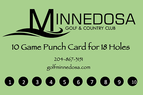 10 Game Punch Card - 18 Holes