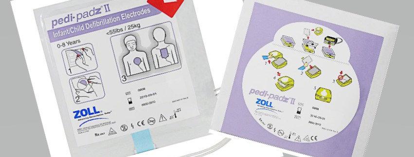 Zoll AED Plus/Zoll AED Pro Pedi Padz II elektrod