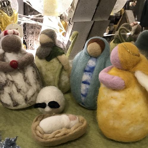 Felted Nativity Scene