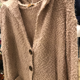 Soft Pebbled Cardigan in Blush