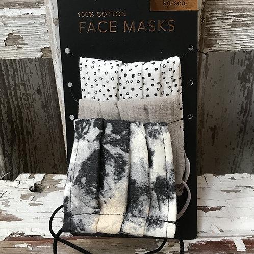 Set of 3 Cotton Face Masks