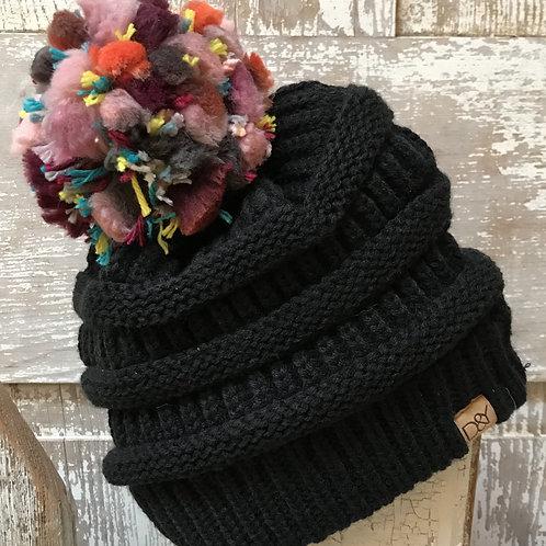 Confetti Pom Pom Hat