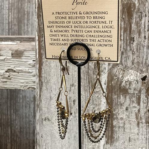 Pyrite Chandelier Earrings
