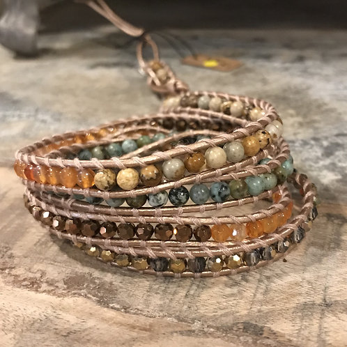 Earth and Turquoise Wrap