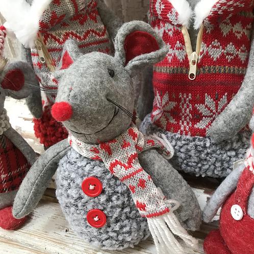 Happy Mouse in Fleece Vest