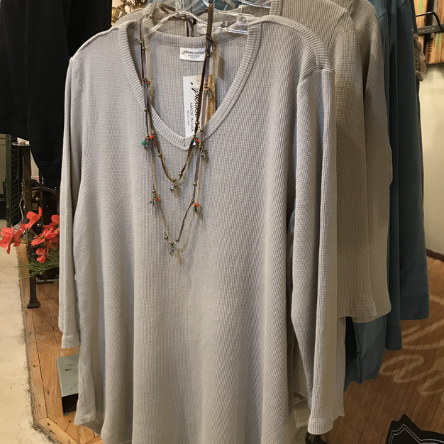 3/4 Sleeve Cotton V-neck