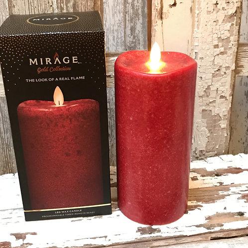 Red Mirage Pillar Candle