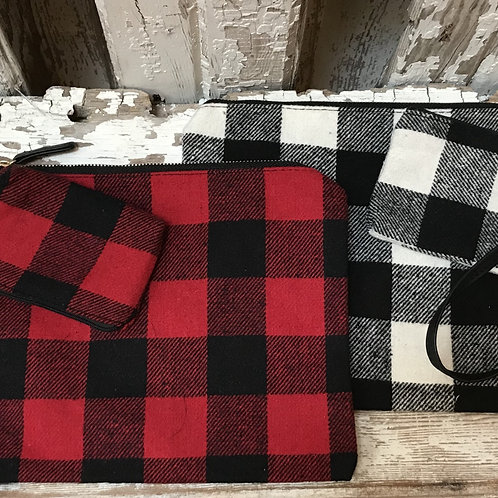 Flannel Wristlets with Coin Purse