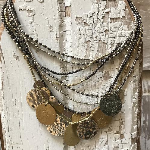 Multi-strand Disc Necklace