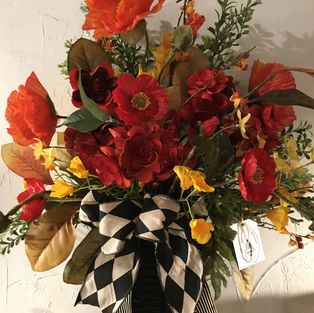 Poppies with Harlequin Bow