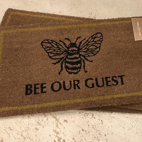 'Bee Our Guest' Doormat