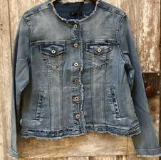Raw Edged Denim Jacket