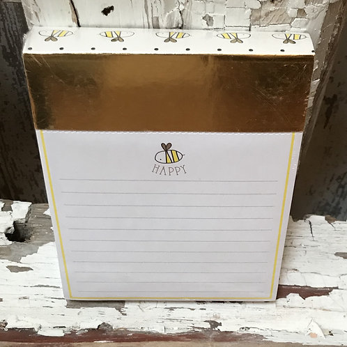 Bee Happy Notepad