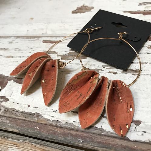 Cork Hoop Earrings